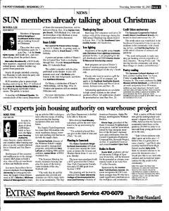 Syracuse Post Standard, November 10, 2005, Page 201