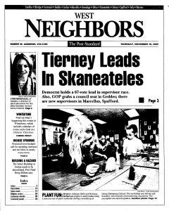 Syracuse Post Standard, November 10, 2005, Page 225
