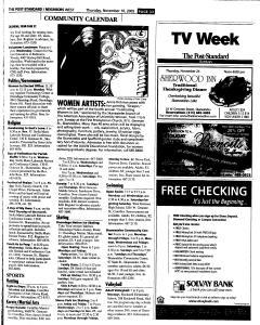 Syracuse Post Standard, November 10, 2005, Page 257
