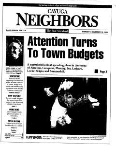 Syracuse Post Standard, November 10, 2005, Page 327
