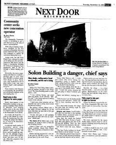Syracuse Post Standard, November 10, 2005, Page 331