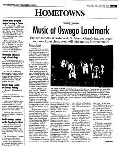 Syracuse Post Standard, November 10, 2005, Page 365
