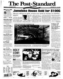 Syracuse Post Standard, November 23, 2005, Page 1