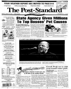 Syracuse Post Standard, March 26, 2006, Page 1