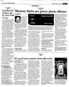Syracuse Post Standard, March 26, 2006, Page 137
