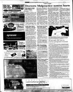 Syracuse Post Standard, August 16, 2008, Page 8