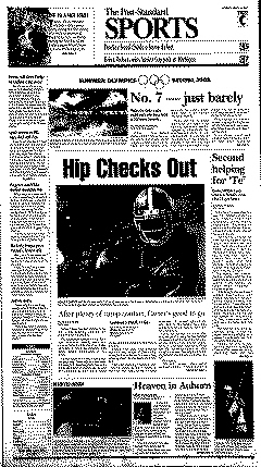 Syracuse Post Standard, August 16, 2008, Page 17
