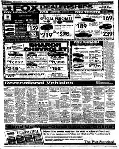 Syracuse Post Standard, August 24, 2008, Page 67