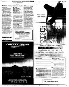 Syracuse Post Standard, August 24, 2008, Page 257