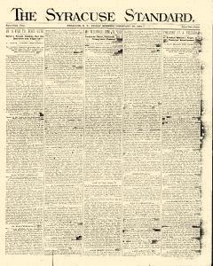 Syracuse Standard, February 29, 1884, Page 1