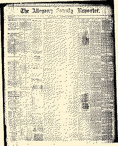Wellsville Allegany County Reporter, November 25, 1886, Page 1
