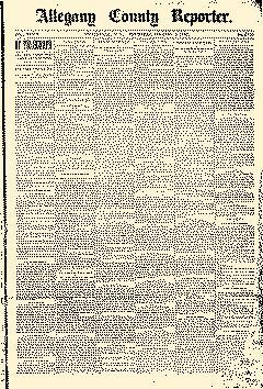 Wellsville Allegany County Reporter, January 09, 1890, Page 1