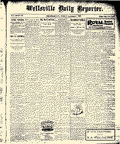 Wellsville Daily Reporter, October 31, 1899, Page 1