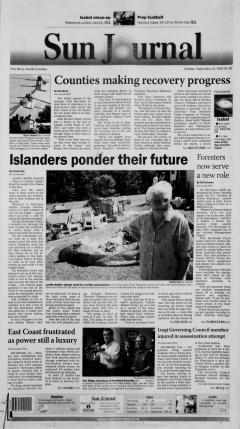 Hurricane Isabel Newspaper Archives Newspaperarchive