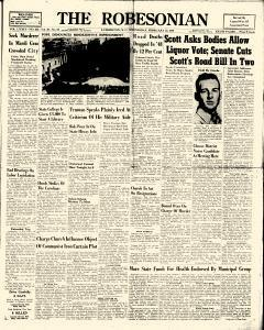 Robesonian, February 23, 1949, Page 1