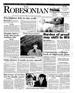 Robesonian, June 20, 1998, Page 1