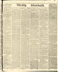 Weekly Standard, March 18, 1863, Page 1