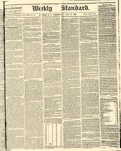 Weekly Standard, August 12, 1863, Page 1