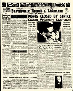 Statesville Record And Landmark, December 24, 1962, Page 1