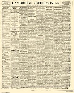 Cambridge Jeffersonian, March 23, 1871, Page 1