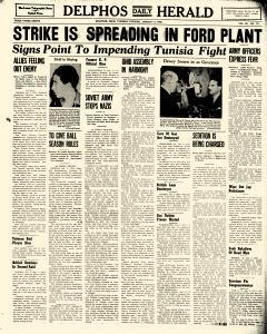 Delphos Daily Herald, January 05, 1943, Page 1