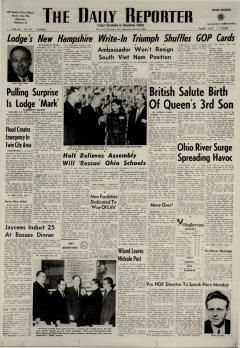 Dover Daily Reporter, March 11, 1964, Page 1