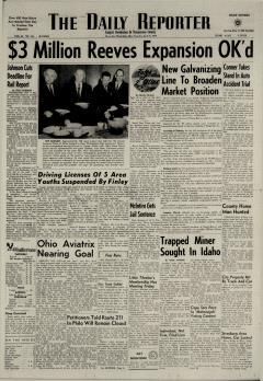 Dover Daily Reporter, April 16, 1964, Page 1