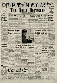 Dover Daily Reporter, December 31, 1964, Page 1