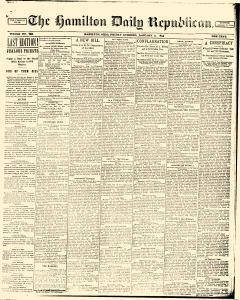 Hamilton Daily Republican, January 11, 1895, Page 1
