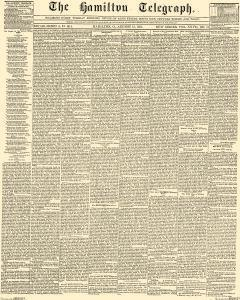 Hamilton Telegraph, August 15, 1854, Page 1