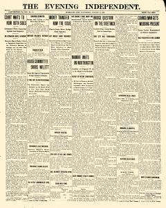 Evening Independent, January 27, 1909, Page 1