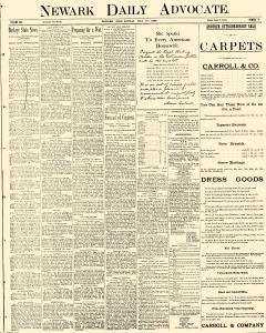 Newark Daily Advocate, May 19, 1890, Page 1