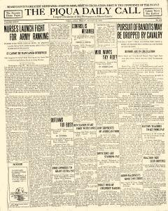 Piqua Daily Call, August 22, 1919, Page 1