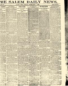 Salem Daily News, February 07, 1890, Page 1