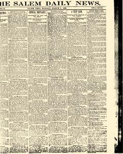 Salem Daily News, March 03, 1890, Page 1