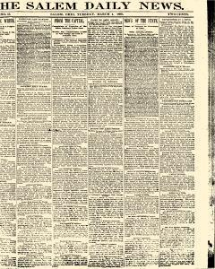 Salem Daily News, March 04, 1890, Page 1