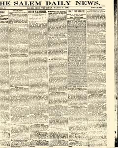 Salem Daily News, March 13, 1890, Page 1