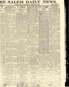 Salem Daily News, March 26, 1890, Page 1