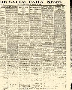 Salem Daily News, March 28, 1890, Page 1