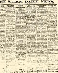 Salem Daily News, April 21, 1890, Page 1