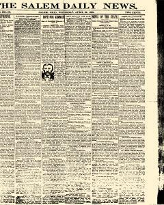 Salem Daily News, April 30, 1890, Page 1