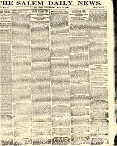 Salem Daily News, May 22, 1890, Page 1