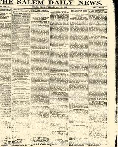 Salem Daily News, May 23, 1890, Page 1