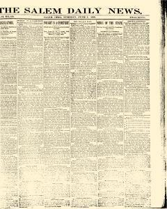 Salem Daily News, June 03, 1890, Page 1