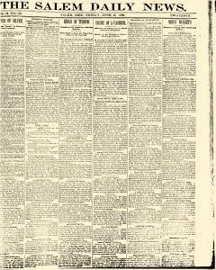 Salem Daily News, June 13, 1890, Page 1