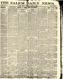 Salem Daily News, June 24, 1890, Page 1
