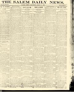 Salem Daily News, July 12, 1890, Page 1