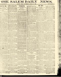 Salem Daily News, July 19, 1890, Page 1