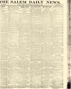 Salem Daily News, August 13, 1890, Page 1