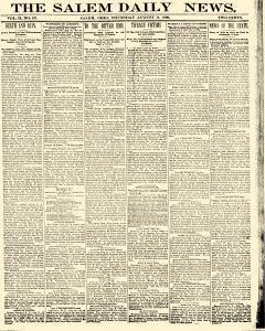 Salem Daily News, August 21, 1890, Page 1